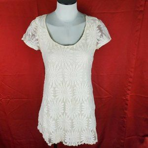 Forever 21 Dress Women Size S Casual Cream…
